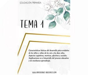tema 1 educación primaria