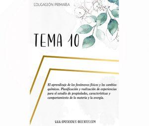 tema 10 educación primaria
