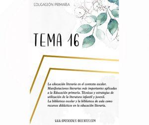 tema 16 educación primaria