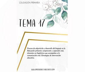 tema 17 educación primaria