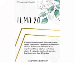 tema 20 educación primaria