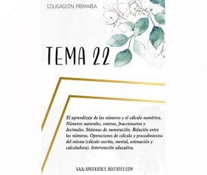 tema 22 educación primaria