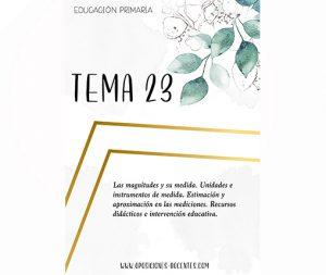 tema 23 educación primaria