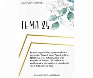 tema 25 educación primaria