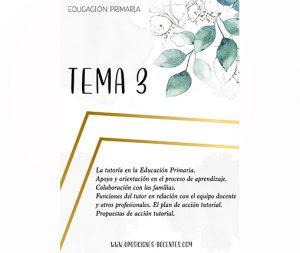 tema 3 educación primaria