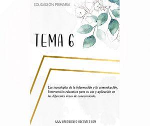 tema 6 educación primaria