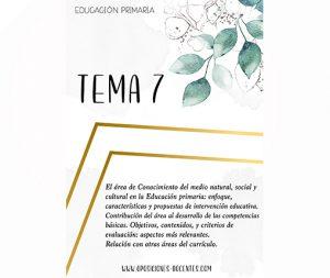 tema 7 educación primaria