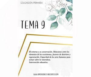tema 9 educación primaria